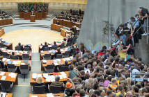 Loveparade Landtag Montage Rechte: dpa