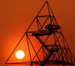 Sonnenuntergang im Ruhrgebiet; Rechte: dpa