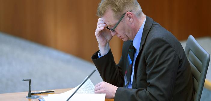 Innenminister Jäger im Landtag (Archivbild); Rechte: dpa/Gambarini