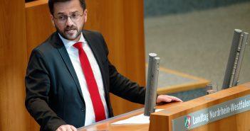 Thomas Kutschaty in der Landtagsdebatte zum Haushalt 2020 (Foto:dpa)