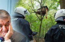Innenminister Reul und der Polizeieinsatz im Hambacher Forst (Foto: WDR/dpa/Fotomontage)