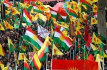 Kurden bei einer Demo in Köln (Foto: dpa)