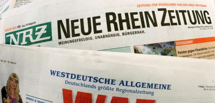 Verschiedene Zeitungstitel der Funke-Mediengruppe (Foto: dpa)