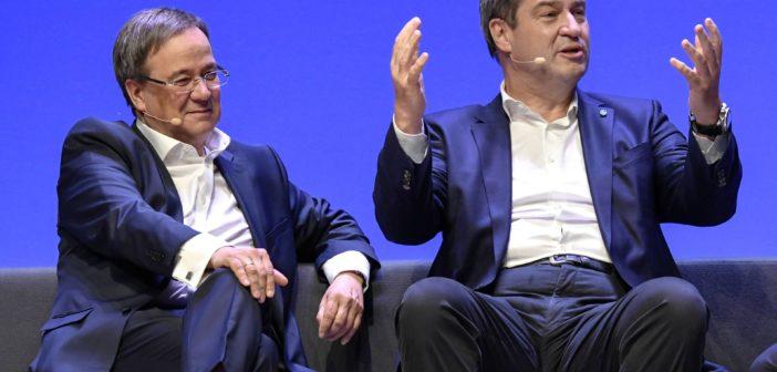 Armin Laschet (CDU) und Markus Söder (CSU) (Foto: imago)