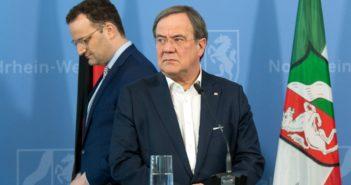 Armin Laschet (CDU) und Jens Spahn (CDU) bei einem Pressetermin (Foto: Reuters)
