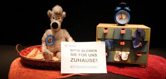 """""""Bleiben Sie zuhause"""". Aktion der Polizei Dortmund. Bildrechte: Polizei Dortmund"""