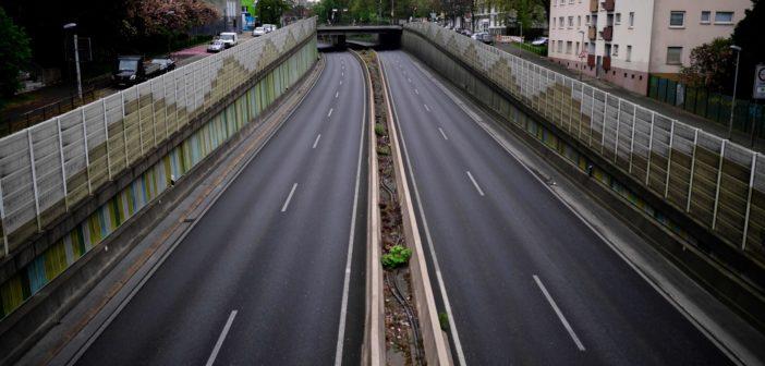 Blick auf die A40 bei Essen (Foto: AFP)