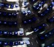 Schattenspiel im Plenum des Bundestags